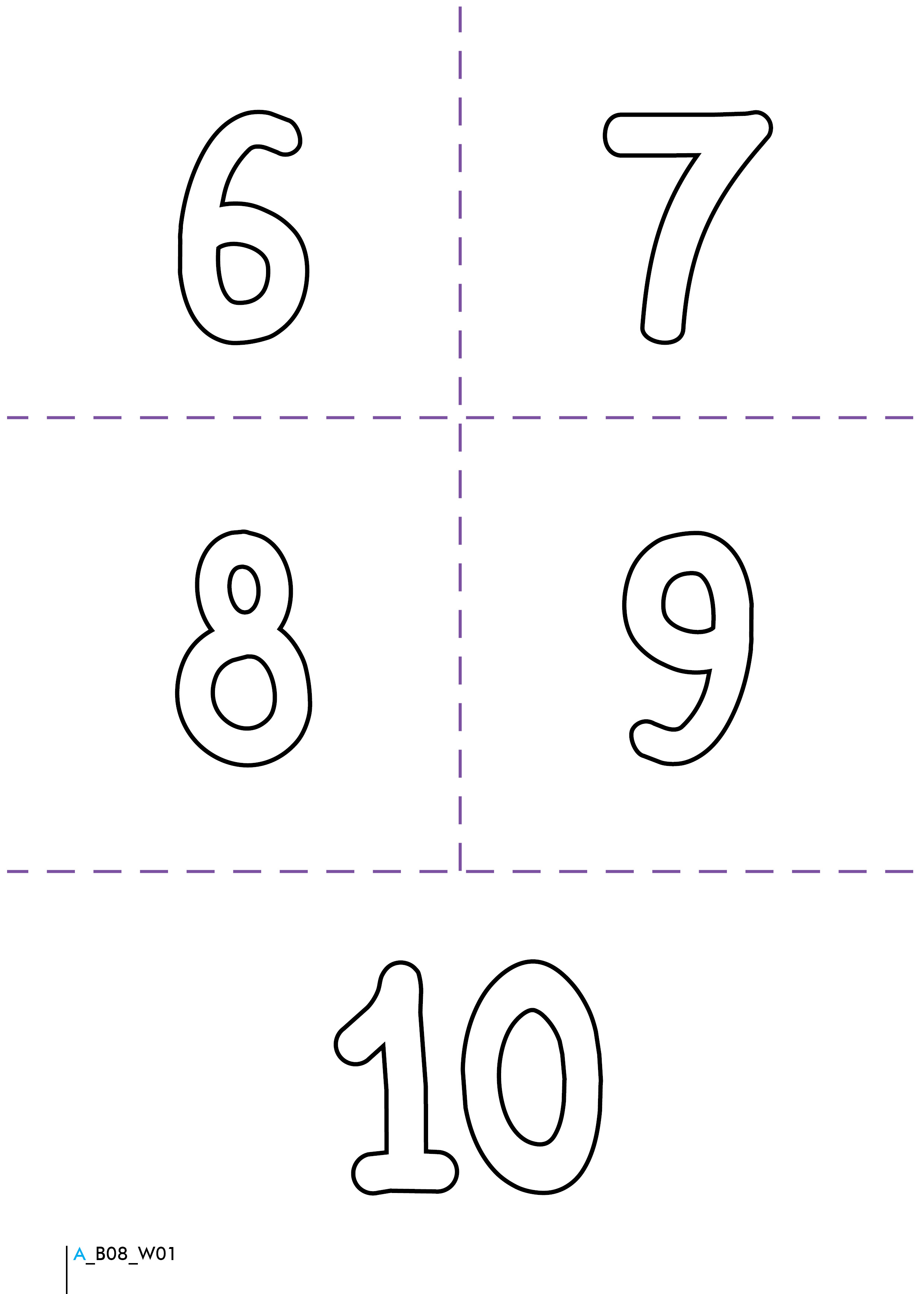 Number 6 Worksheet With numbers 6-10,